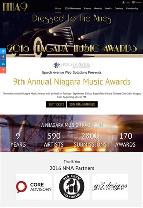 2016 Niagara Music Awards