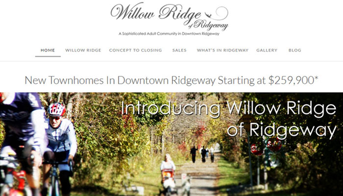 Small Business Website Design for Willow Ridge of Ridgeway
