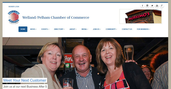 Custom Website Design for Welland Pelham Chamber of Commerce